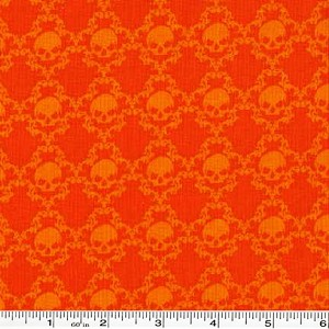 Witches Brew Tonal Skulls - Orange