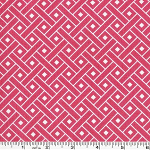 Yard Sale Basketweave - Peony Pink - 44 inch bolt end