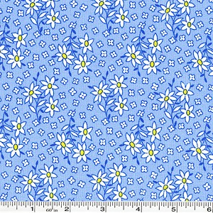 Nana Mae Scattered Daisies - Blue