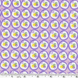 Retro 30's Child Smile Circle Garden - Purple