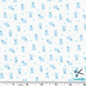 Minny Muu Polar Bears - Blue on White