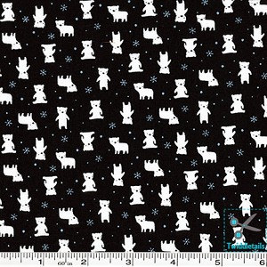 Minny Muu Polar Bears - Black