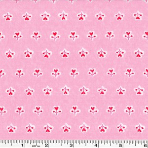 "Surrounded by Love Love Sprouts - 1 yd 23"" bolt end"