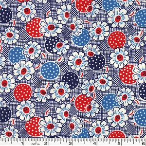 Fresh Air Polka Dot Daisy - Navy