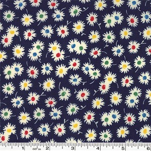 Fresh Air Spiky Flower - Navy