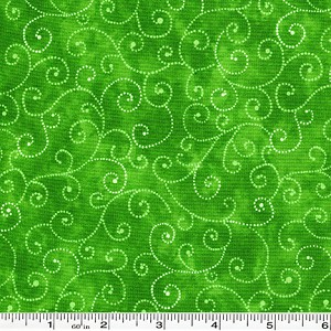Moda Marble Swirls - Green