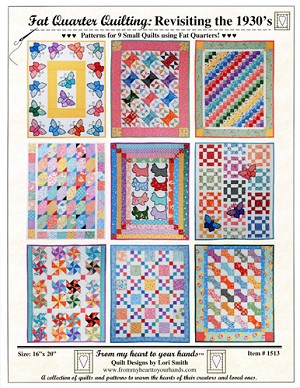 Fat Quarter Quilting: Revisiting the 1930's