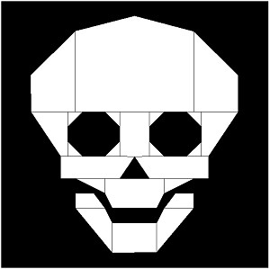 "Skully 8"" Block Pattern PDF"