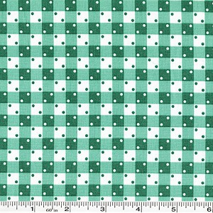 Penny's Pets Gingham Dot - Aloe Green