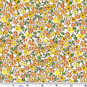Storybook Vacation Multi Flower - Yellow