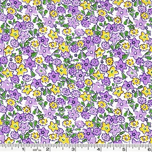 Storybook Vacation Multi Flower - Purple