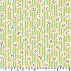 Spring Showers Bud Stripe - Green/Yellow