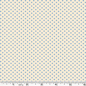 Spring Showers Dots - Ivory/Blue