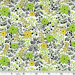 Feedsack Wildflowers - Green