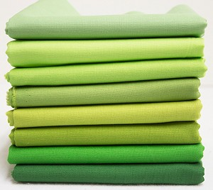 Bella Solids Fabric Bundle - Green