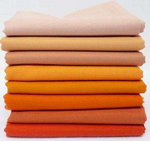 Bella Solids Fabric Bundle - Orange