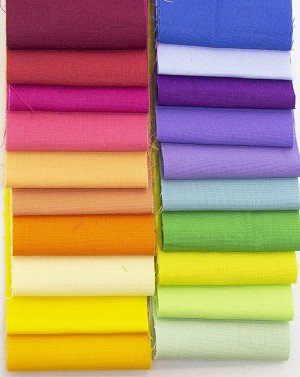 Bella Solids Jelly Roll - assorted colors