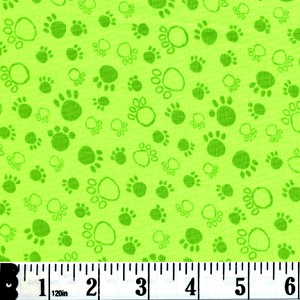A Cat's Life Paw Prints - Green