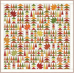 Leaves in the Forest Quilt Pattern - PDF