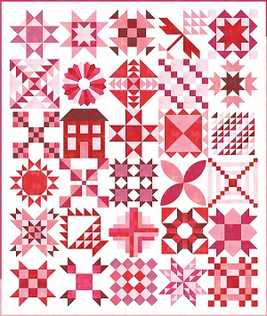 Moda Stitch Pink 2020 Quilt Fabric Kit