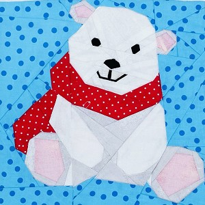 "Polar Bear 9"" Block Pattern PDF"