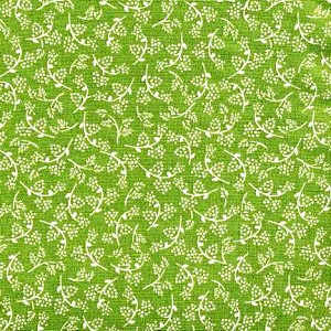 Laura Ashley Heidi Goldenrod - Sage - 1.5 yard bolt end